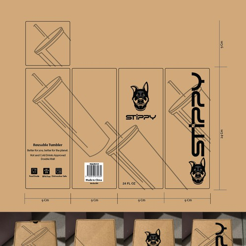 Packaging for Stippy product