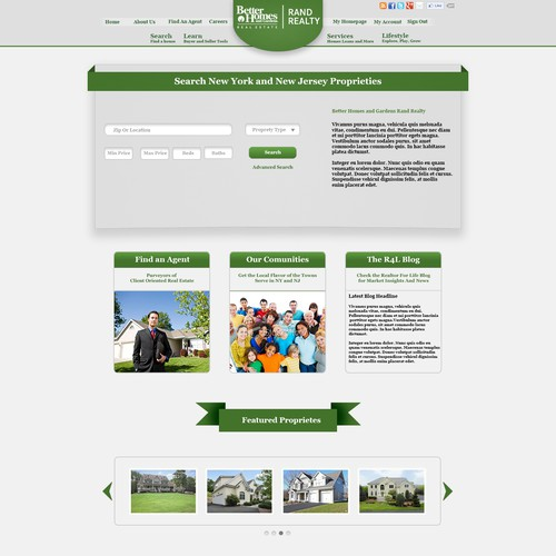 Create the next website design for Better Homes and Gardens Rand Realty