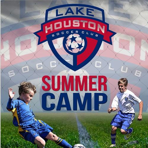 Flyer for Lake Houston Soccer Camp
