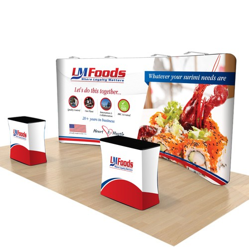 Create an Eye Captivating Trade Show Banner for a Scrappy Food Company