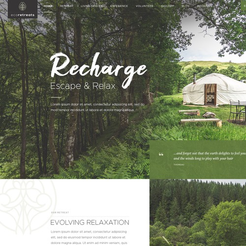 Luxury Retreat Homepage