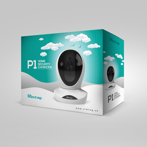 home security smart camera packaging