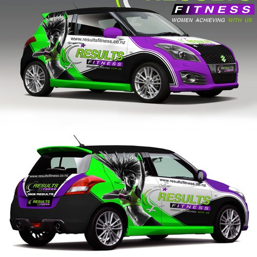 Create a bright, vibrant and modern design for Results Fitness