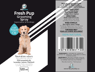 Modern, elegant, minimalistic label for high end dog grooming spray