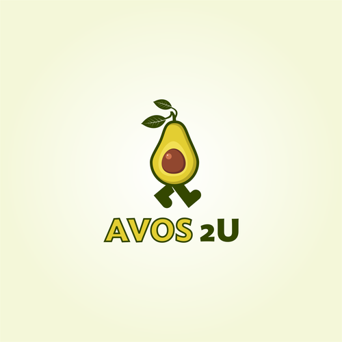 Logo for a local farmer's market that delever avocados
