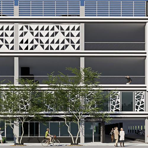 Design Facade Parking area