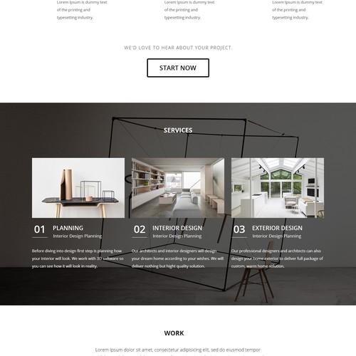DZN Consultant homepage design