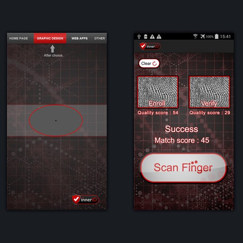 Help us create cool graphics for Mobile Fingerprint Application.