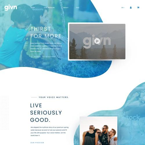 Web design for a consumer goods company.