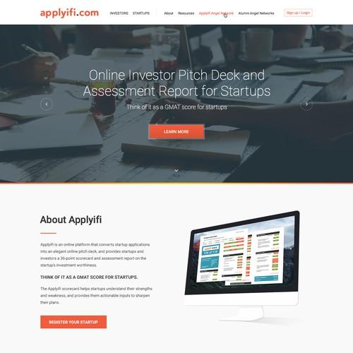 Landing page design for Applyifi.com