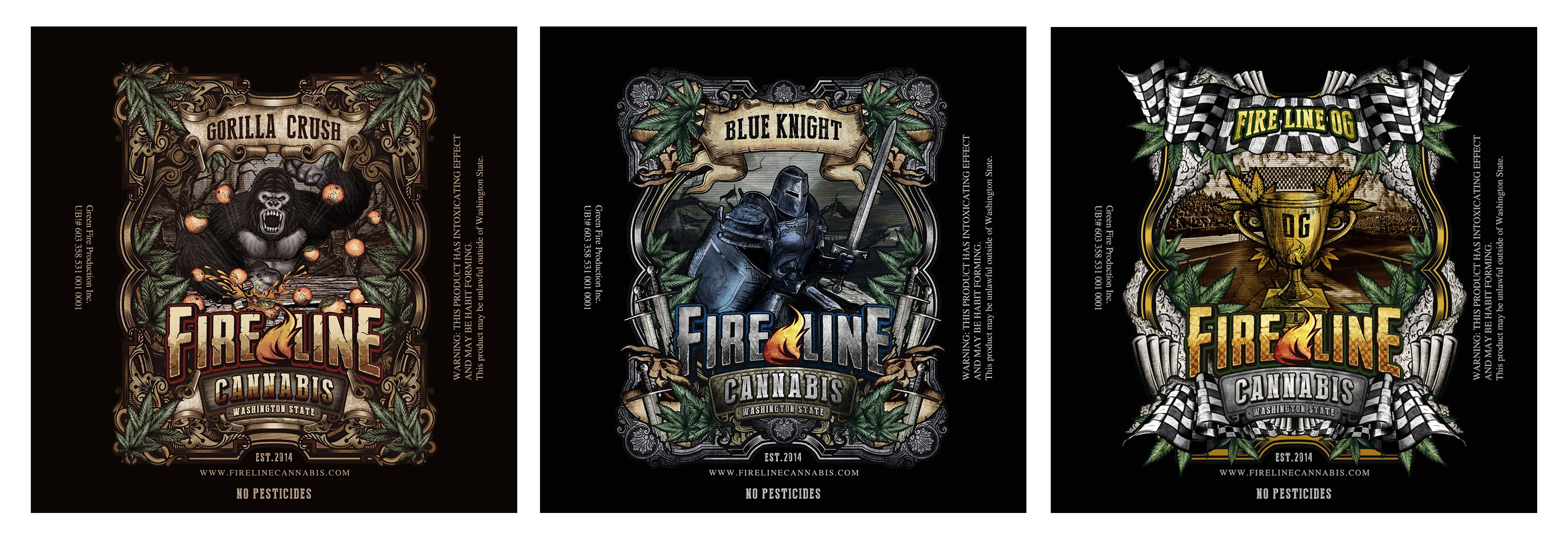 Additional Label for Fire Line Cannabis Label#3