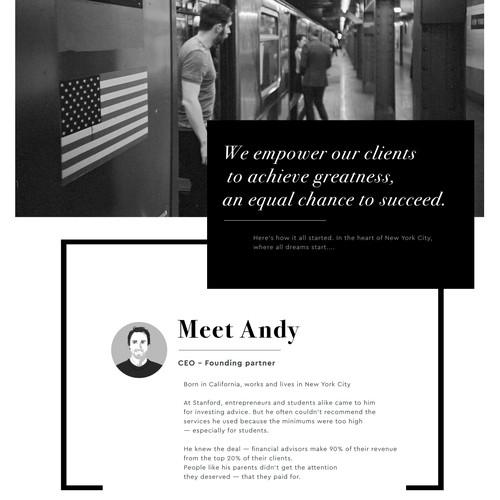 web design for a financial company