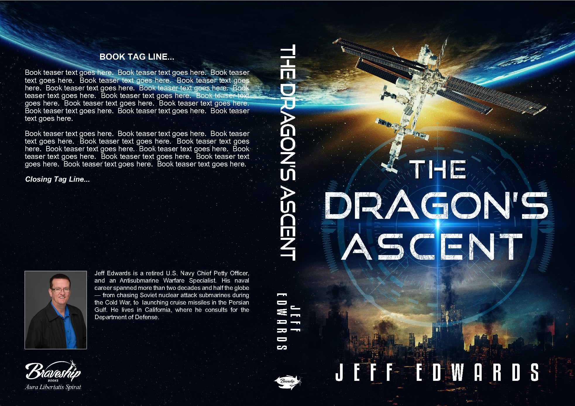 Create a kickass cover for a thriller novel about the International Space Station