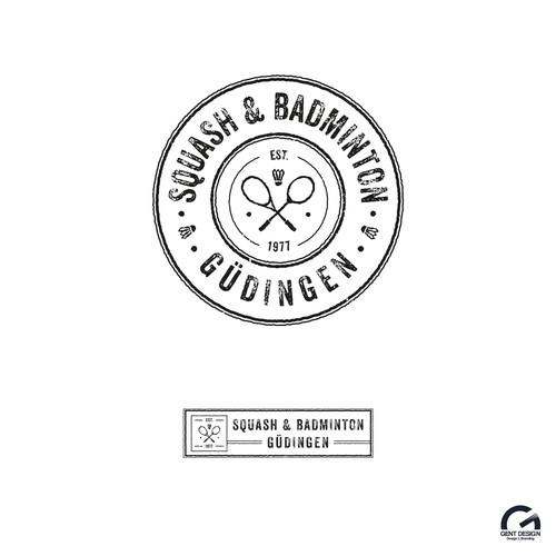 Round vintage - grunge logo design