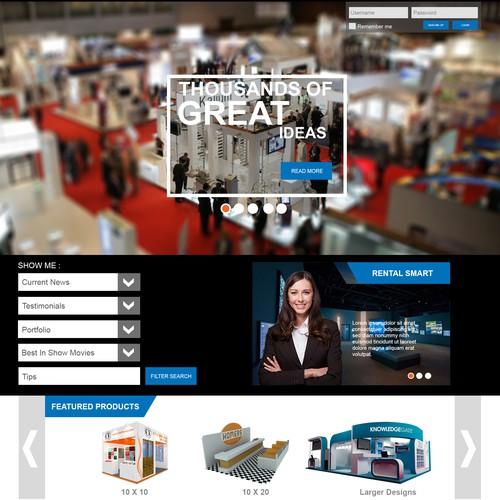 Web design concept for rental company.