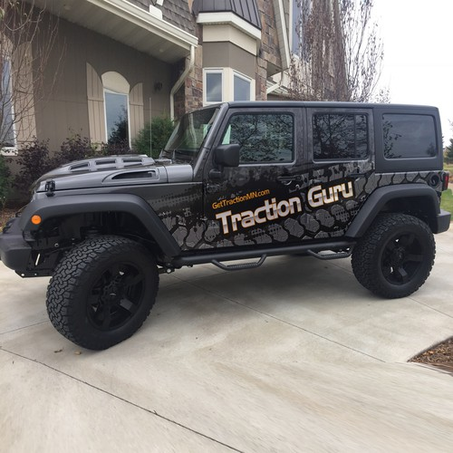 Attention Race Fans! Get Traction for my Jeep Wrangler