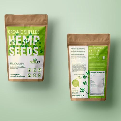 Modern Hemo Seed packaging design