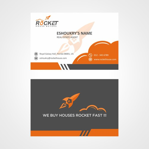 Rocket to the top with a new logo and business card!