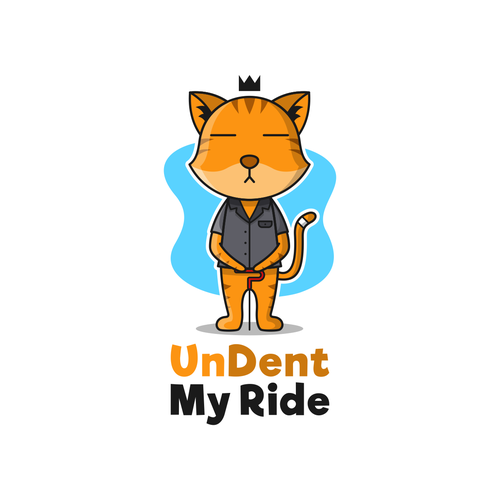 Fun and playful logo concept for undent my ride