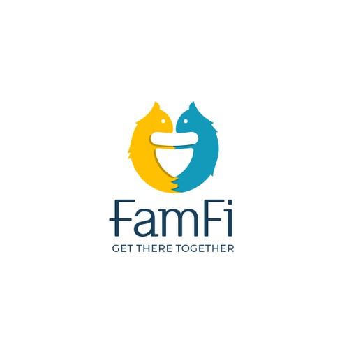 Logo design for FamFi -Finance management app for couples.