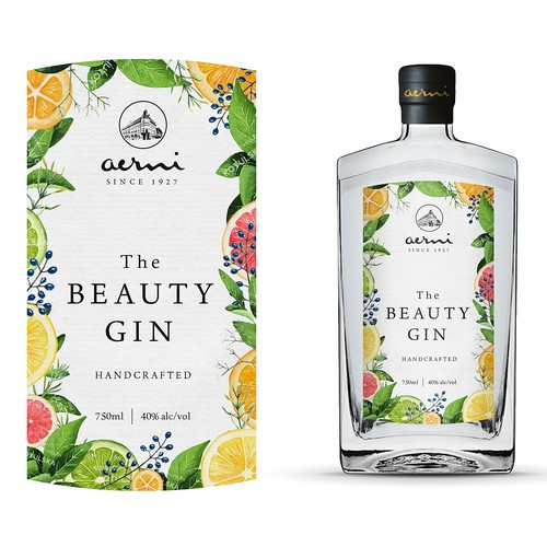 Label for a gin