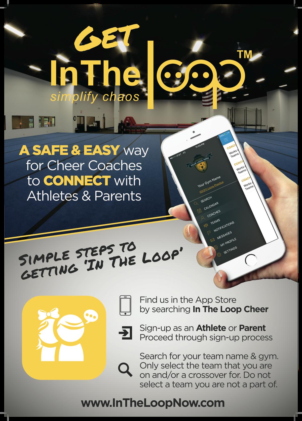 Mobile App Download Instructions Flyer/Poster