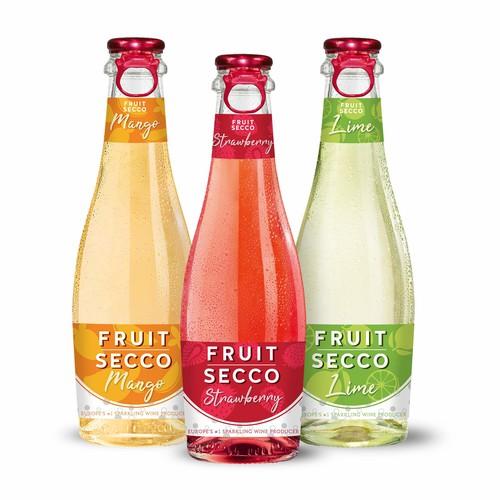 Fruity wine label concept