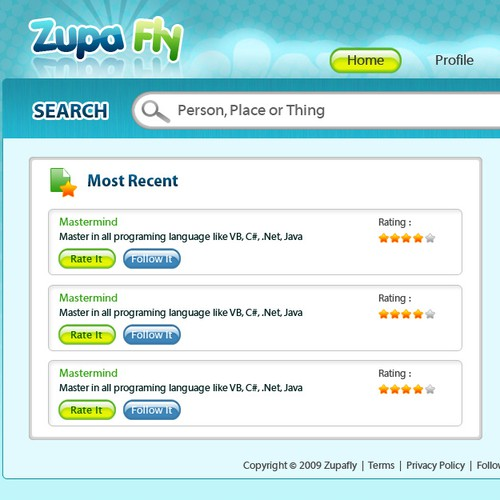 Web 2.0 Social Rating Site (no code)