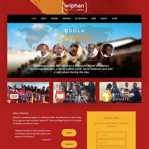 African Ministry Squarespace Website