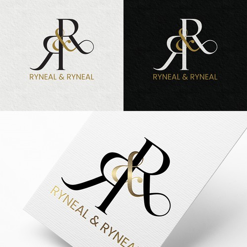 Law Firm Logo using Initials and Ampersand