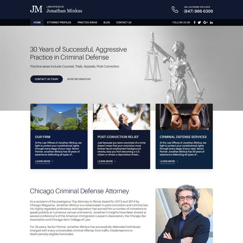 Website Design for Criminal Defence Attorney