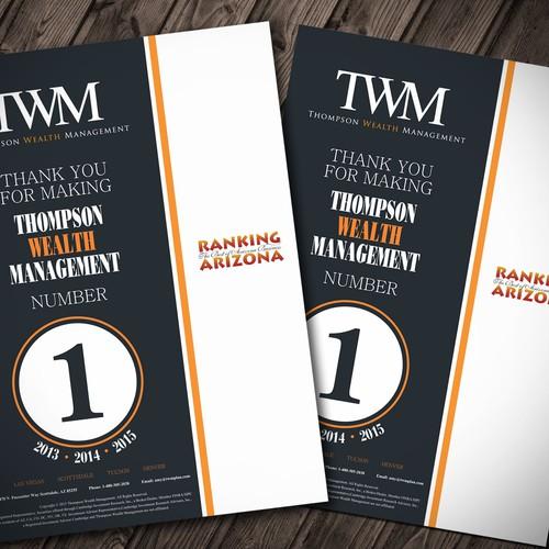 Flyer for Investment Advisors. Clean & Modern