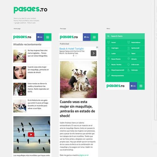 Responsive version of website