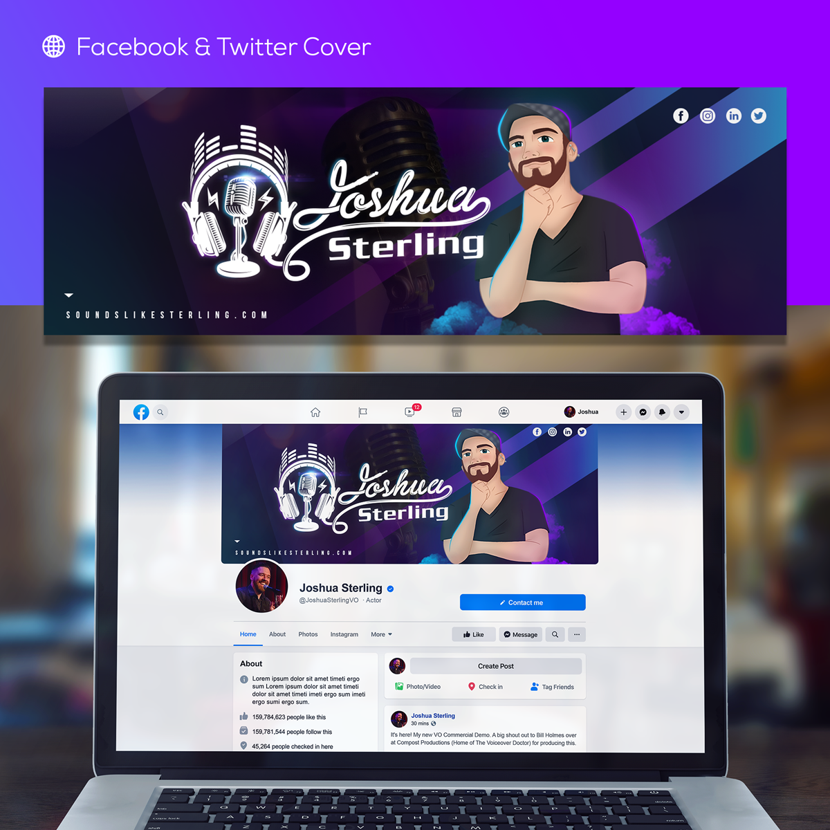 Joshua Sterling Facebook & Twitter Header Image