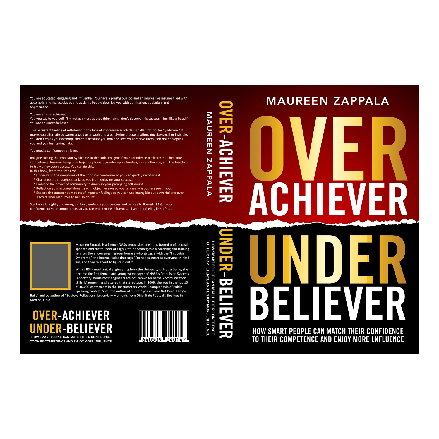 Design cover for a thought-provoking book about over-achievers