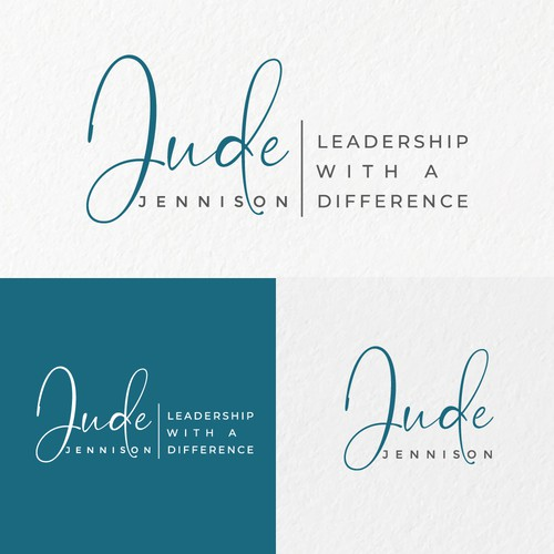 Femine logo concept for leadership life coaching expert.
