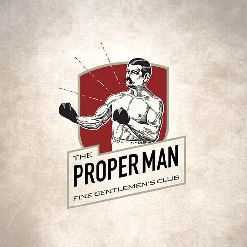 The Proper Man logo design entry 2