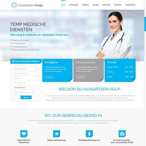 HuisartsenHulp Website