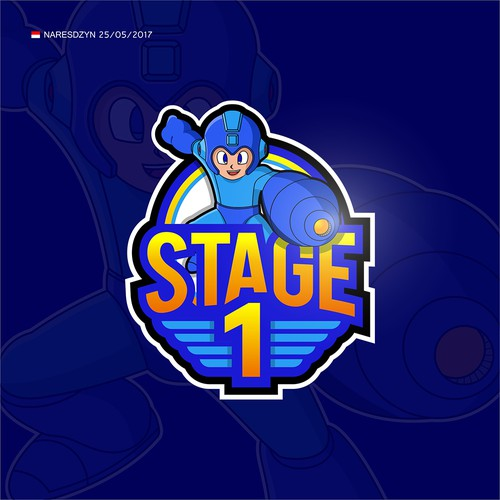 Stage 1 logo for retro gaming Youtube channel