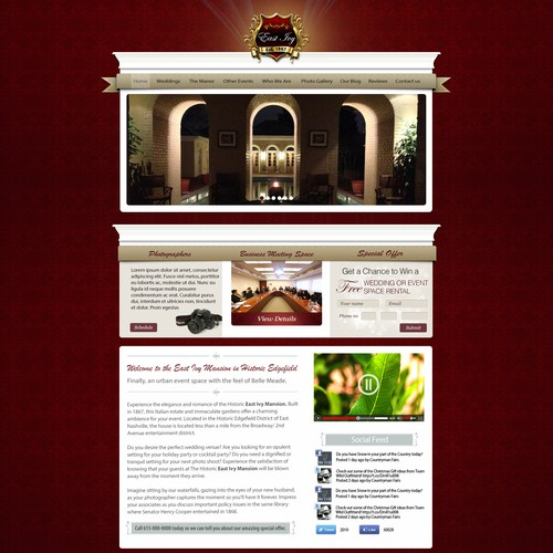 Guaranteed Selection of the Best Webdesign for our Wedding/ Event Space