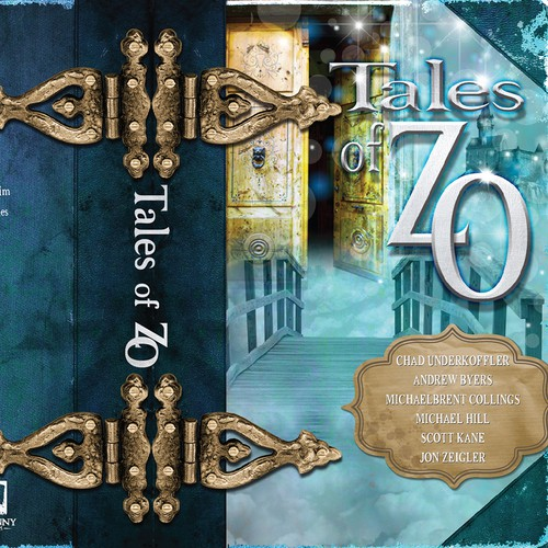 Create a book cover for a new collection of fairy tales