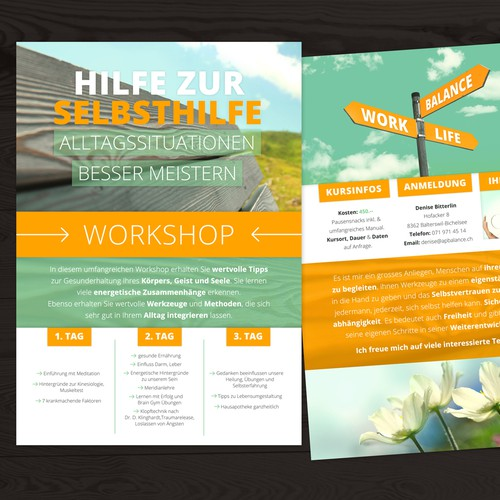 Flyer Hilfe zur Selbsthilfe (Coaching)