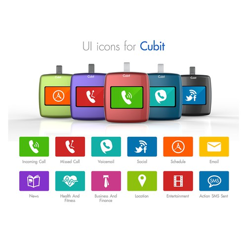 Create the next set of UI icons for Cubit.
