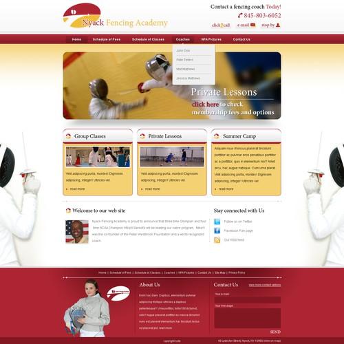 Elite Fencing Academy Website (PSD)