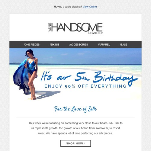 Email Design - Luxury fashion brands' email newsletter design.