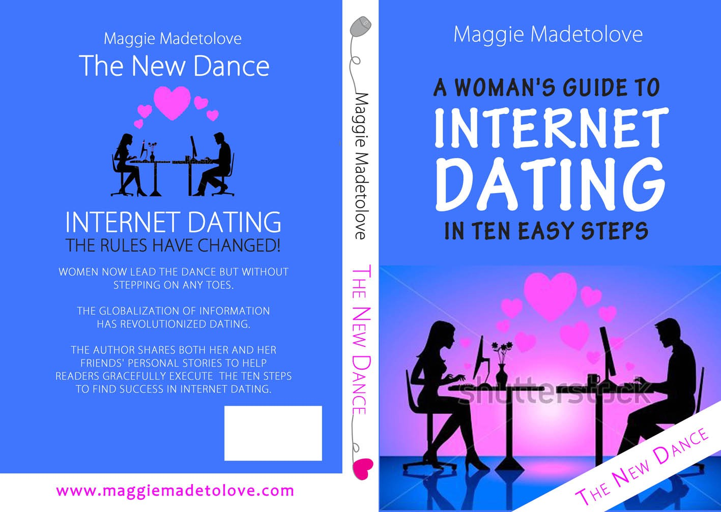 romantic artist needed for cover for internet dating book for Maggie Madetolove's book titled The New Dance; A Woman's G