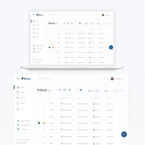 Web App for managing scanned documents