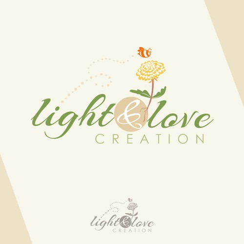 Light and Love creation logo design