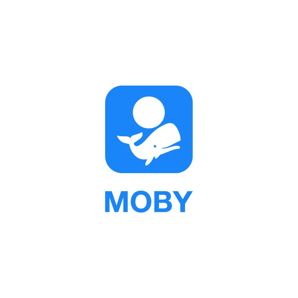 Moby - whale of a logo for the first Peer to Peer Email - MobyMail