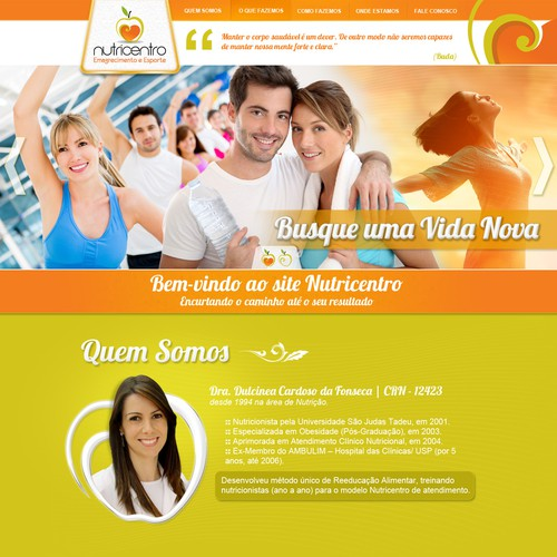 NutriCentro | Web Site One Page